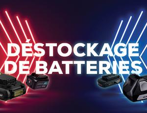 Déstockage de batteries