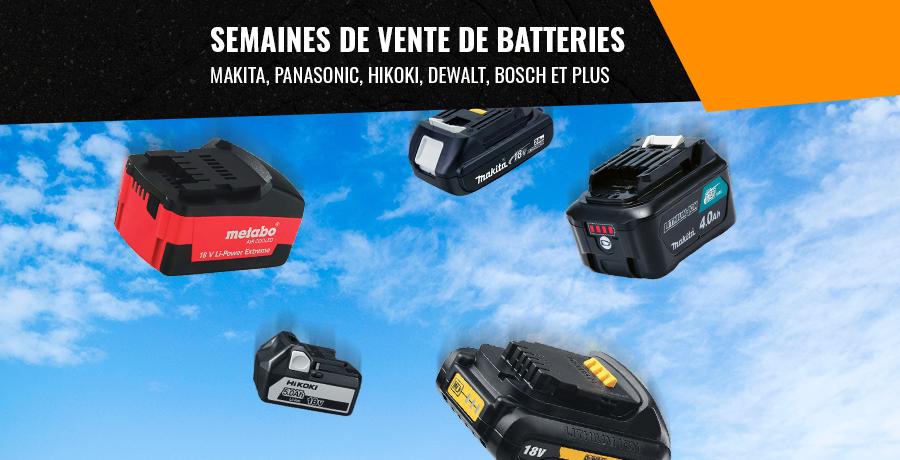 Semaines de vente de batteries